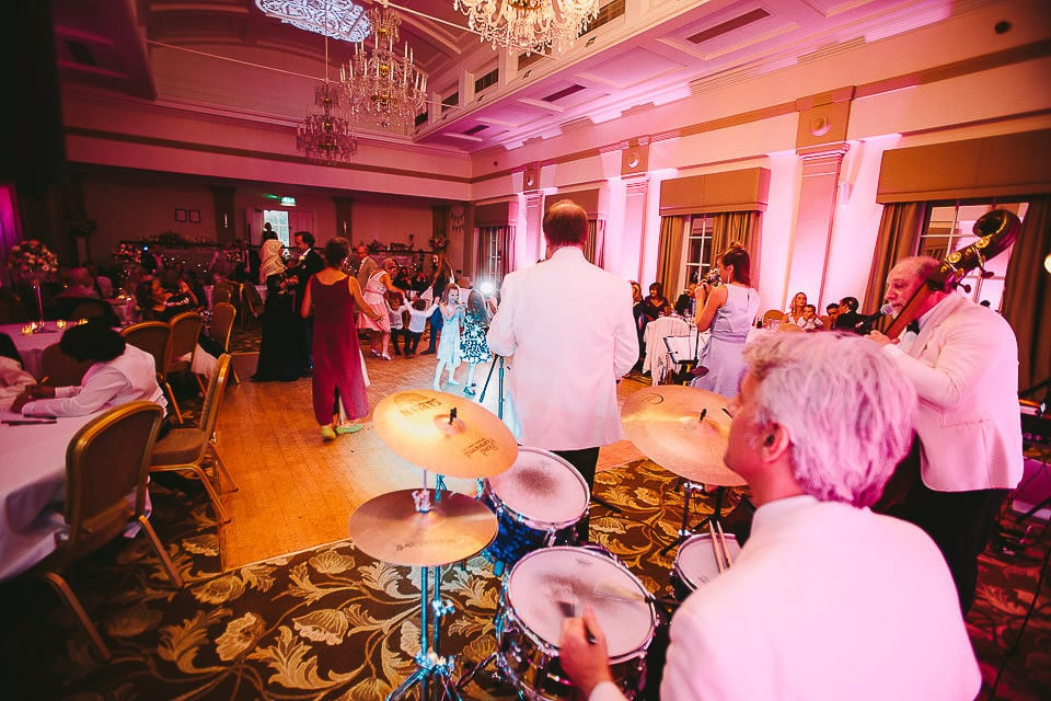 Guests dancing on the dance floor at Bath Spa Hotel