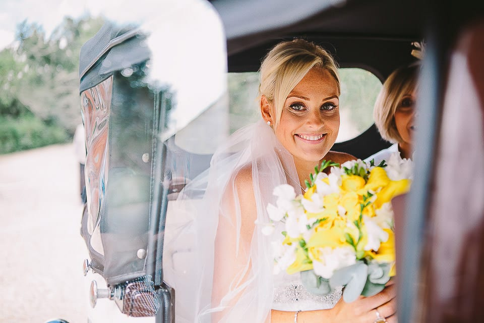 Bride and her Mother arrive at Sopley Mill