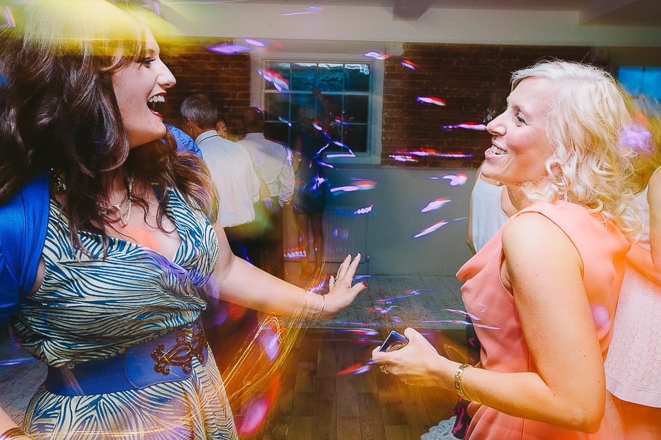 Guests dancing on the dance floor at Sopley Mill
