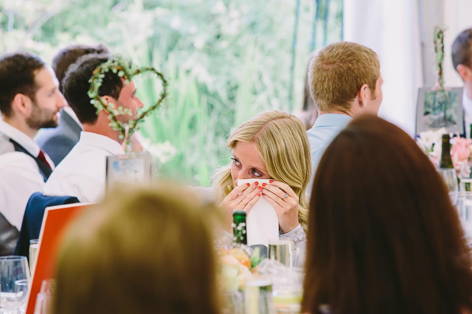 Guest crying during speeches