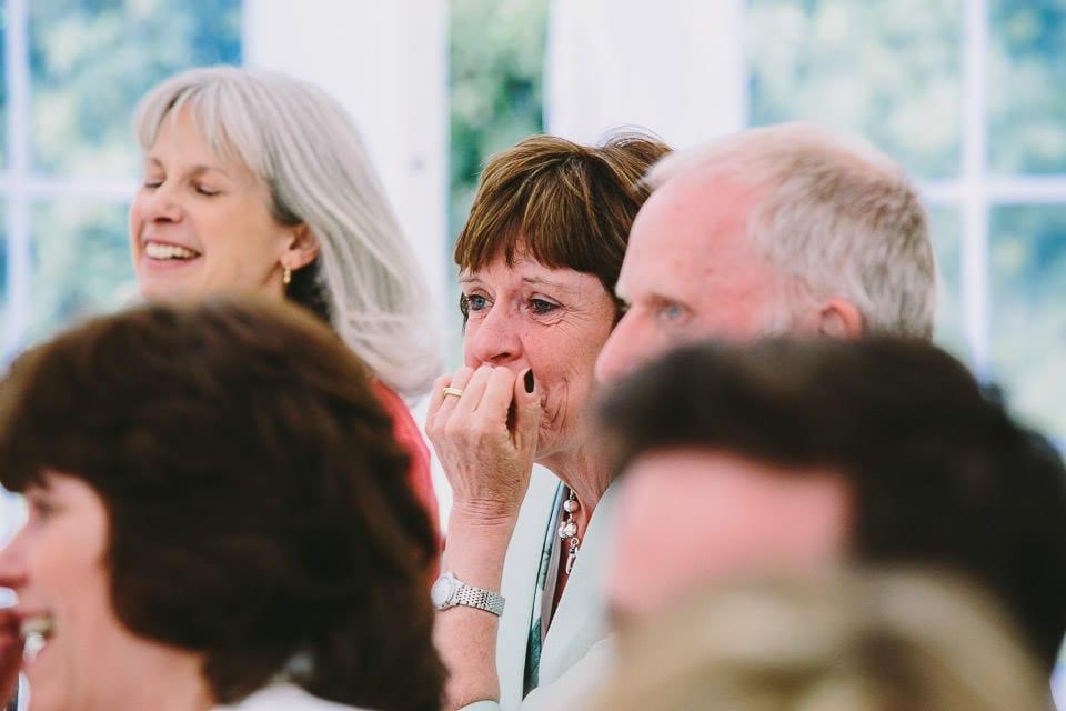 Emotional guest during speech