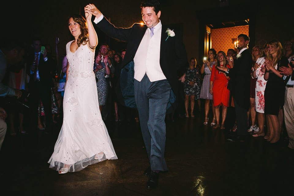 Bride and grooms choreographed first dance
