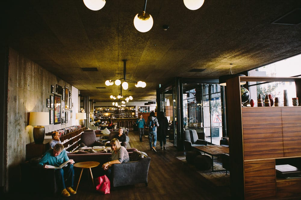 View of the lobby inside The Hoxton London