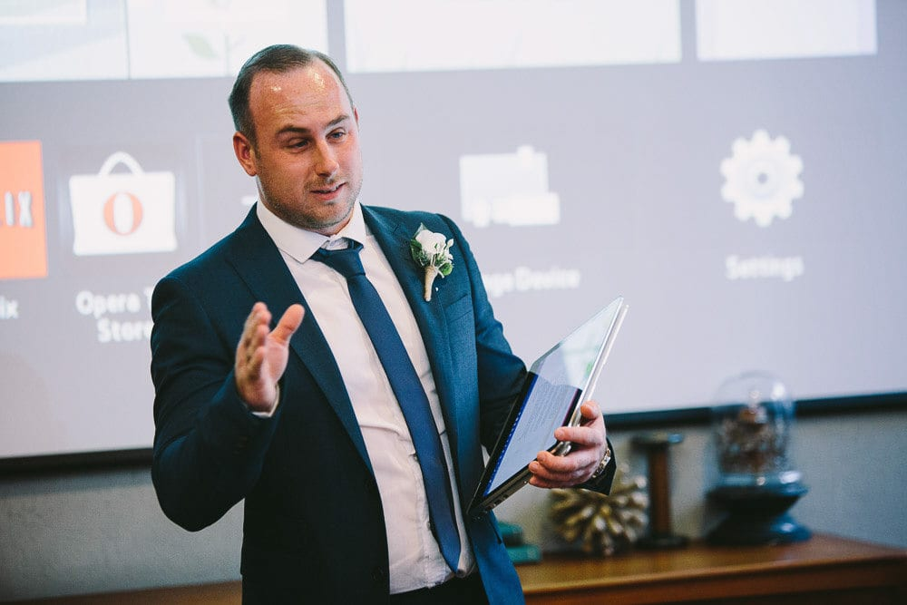 Brother of the groom doing his speech at The Hoxton London