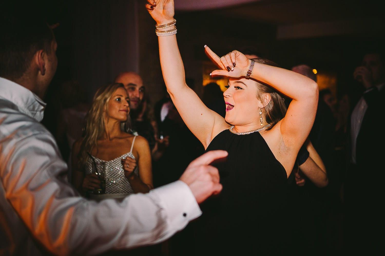 Guests dancing on the dancefloor