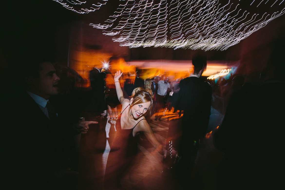 Guests dancing on the dance floor
