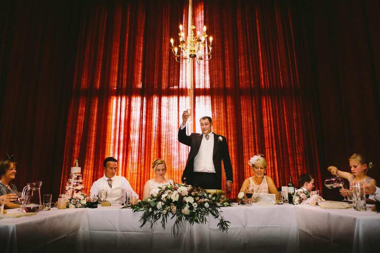 The groom's toast