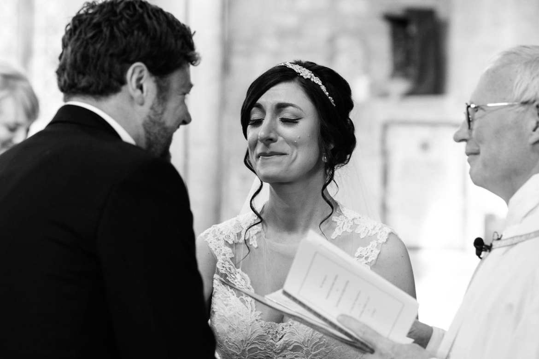 An emotional wedding ceremony