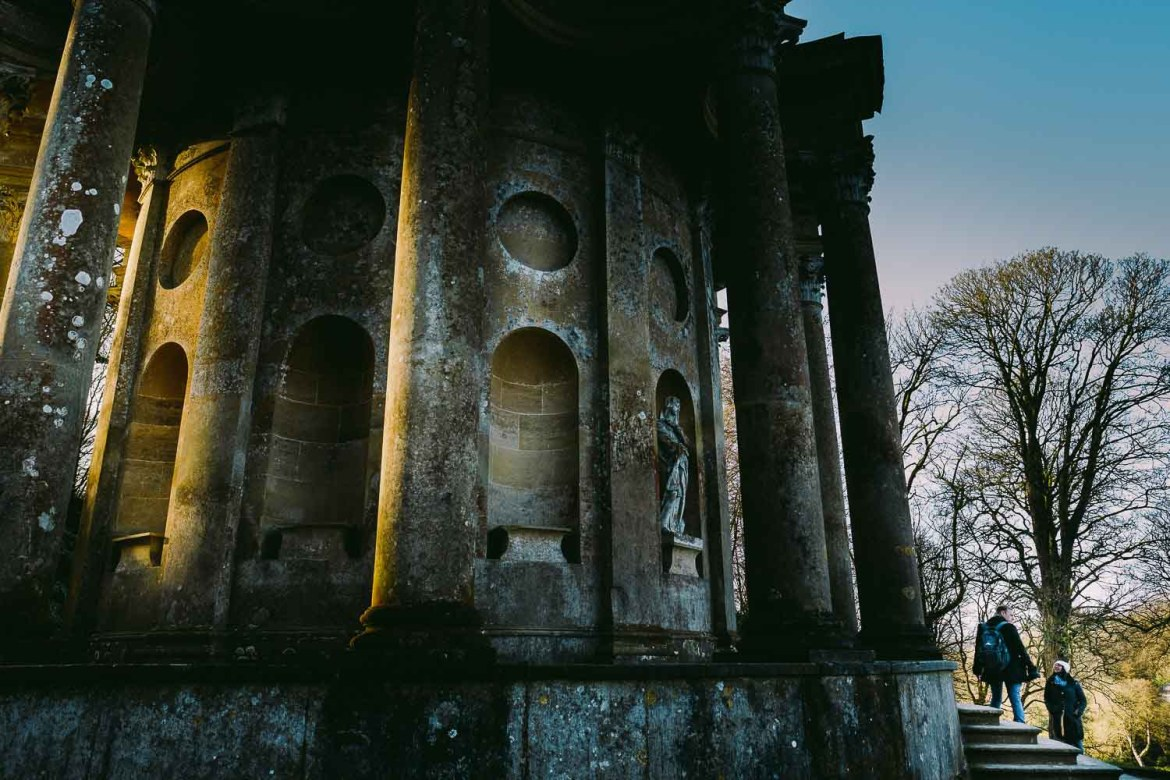 A proposal at the Temple of Apollo in Stourhead Gardens