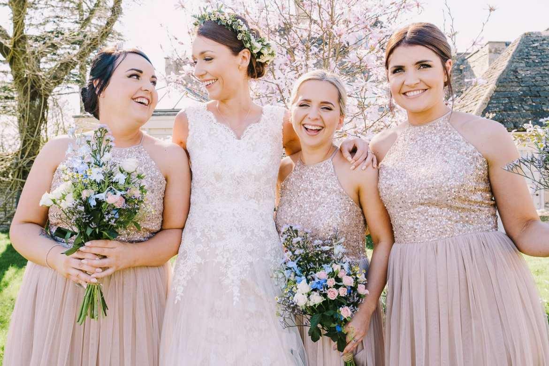 The bride and bidesmaids
