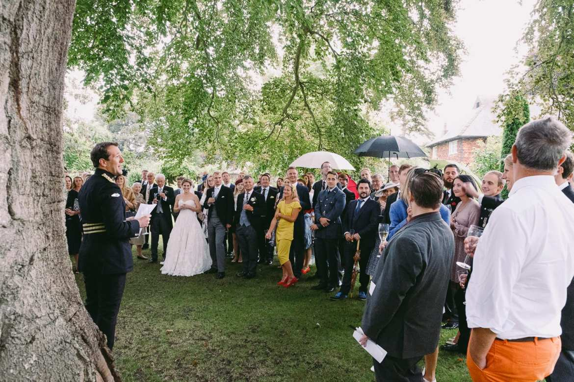 The groom's speech under a tree