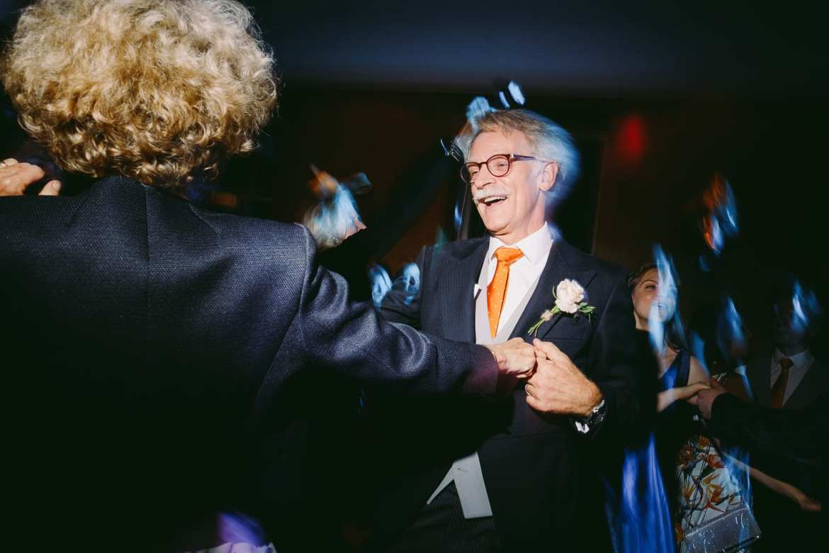 Mother and father of bride dancing