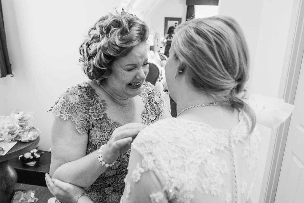 THe bride's mother gets emotional