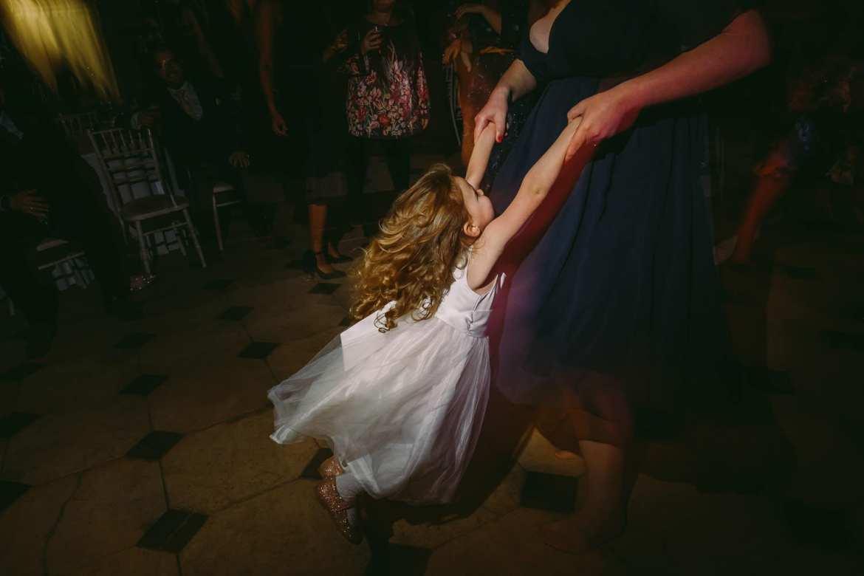 the flower girl dancing