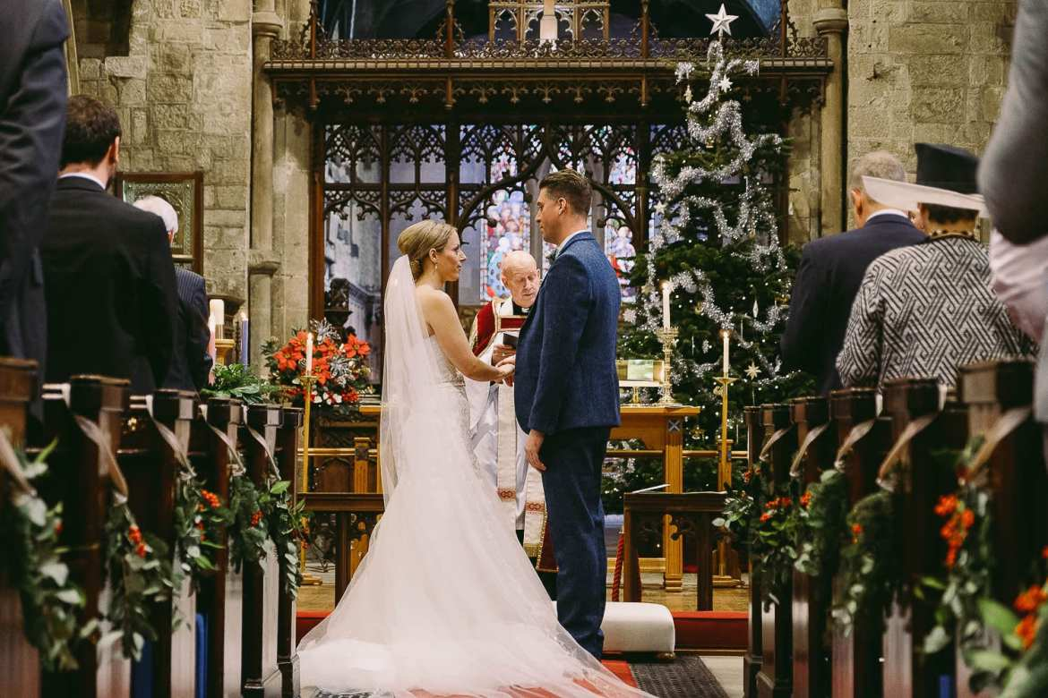 A Christmas wedding ceremony in Newcastle