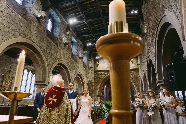 A Christmas wedding ceremony