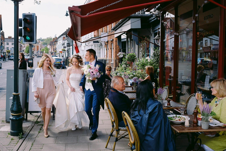 Wedding in Henley town centre