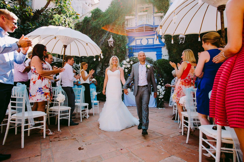 A destination wedding in Spain