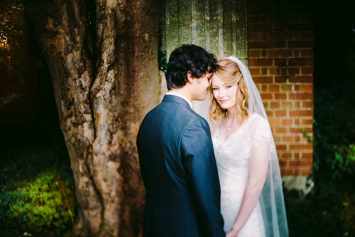 A portrait of the bride and groom at Kings Weston House