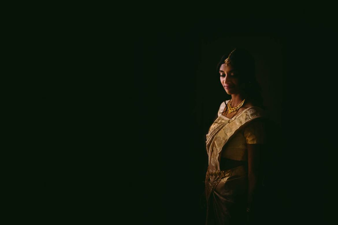 A portrait of the bride before the wedding at Matara