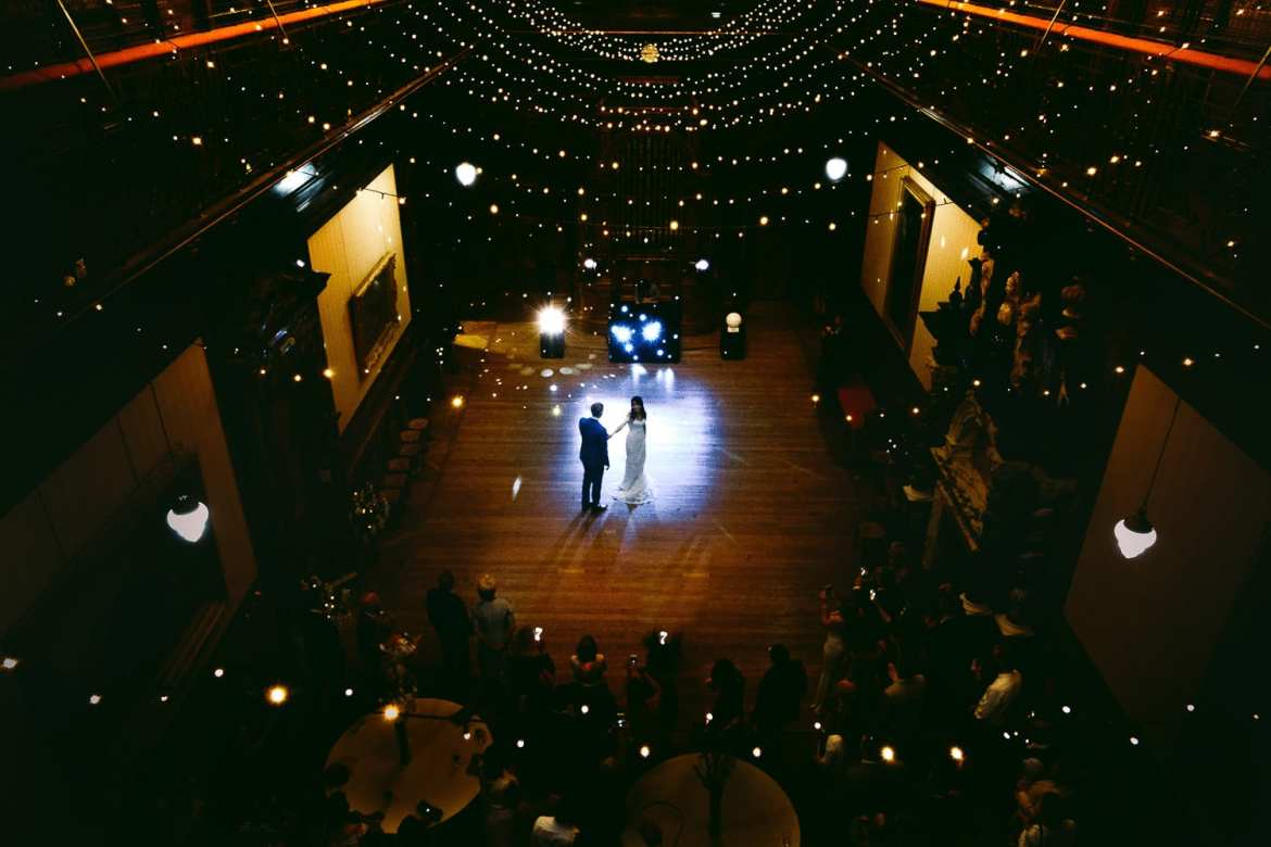 the first dance photographed from above