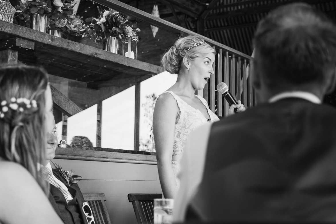 The bride's speech