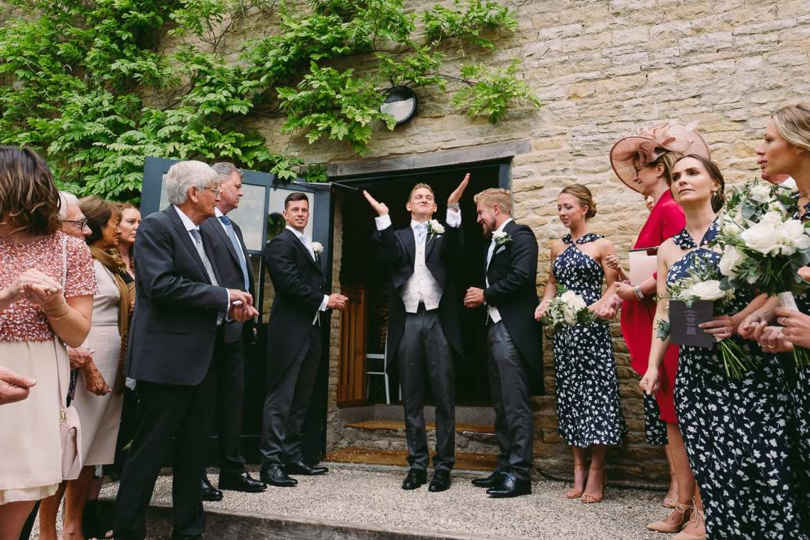 the wedding ceremony at Merriscourt