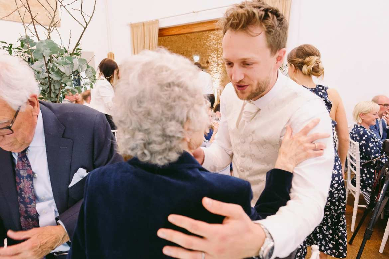 the groom says goodbye to grandma