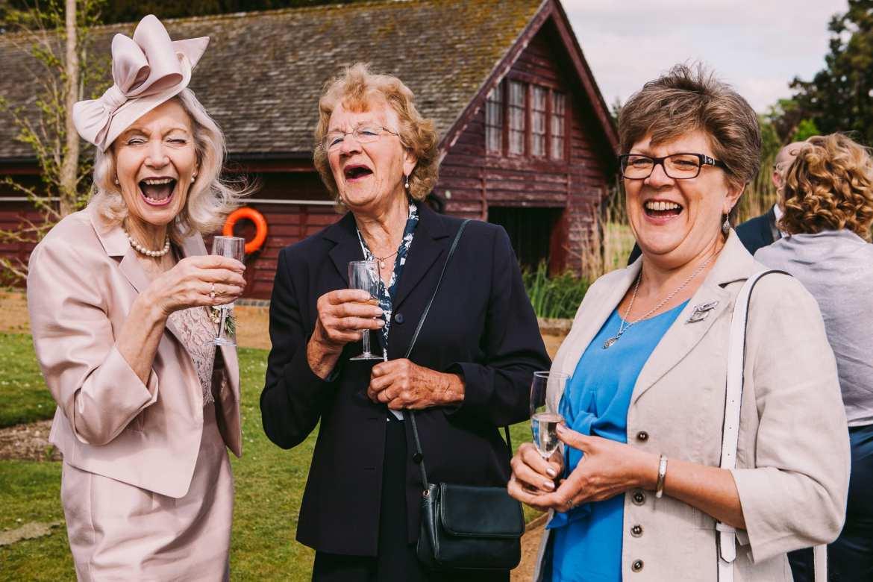 wedding guests in Henley