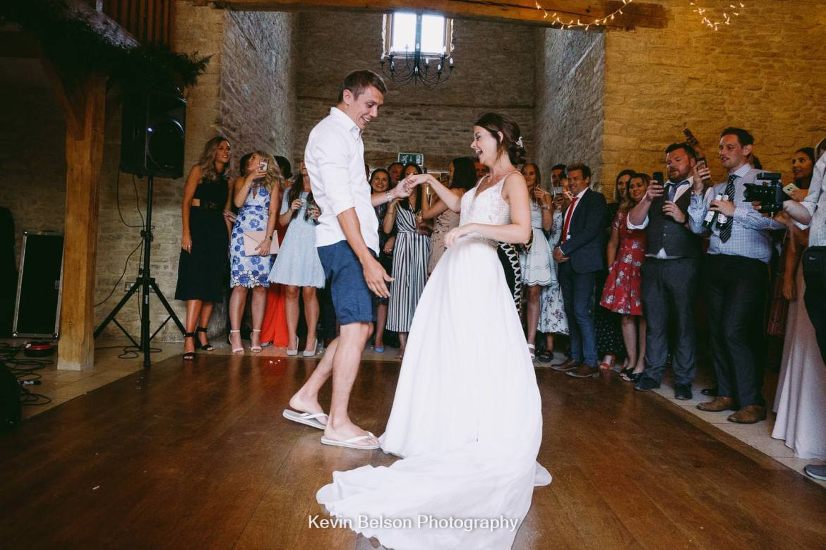 first dance in flip flops