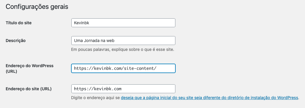 Como esconder que um site está usando wordpress? - wordpress link ocultar