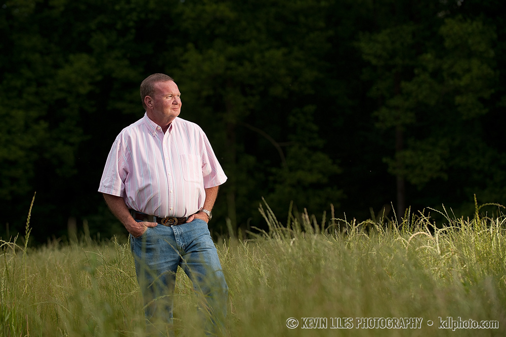 My father, Randal Liles near Homer, GA.