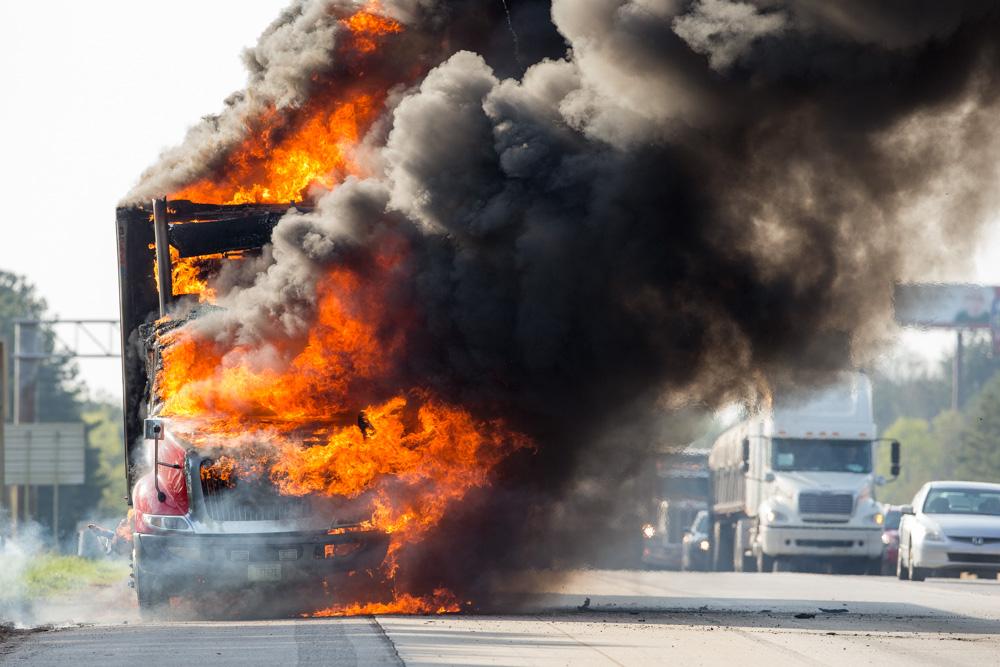 Truck fire 2