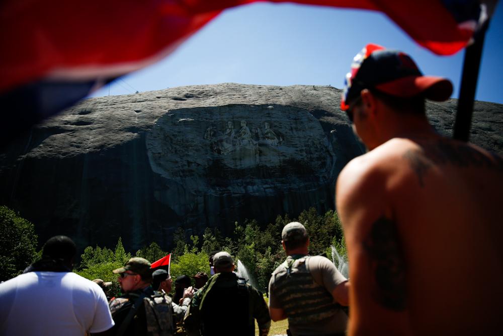 White Supremacist Rally at Stone Mountain