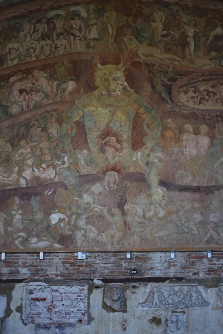 Medieval Fresco of Hell, Camposanto Monumentale, Pisa, Italy.