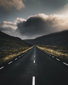 picture of stormy road