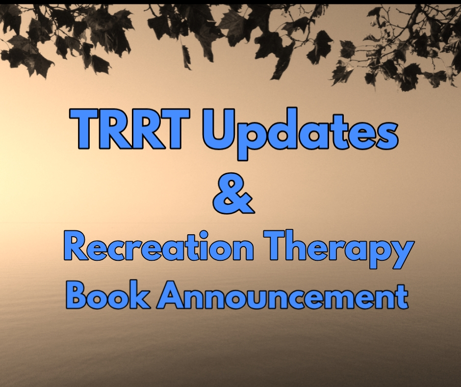 title image for recreation therapy book announcement