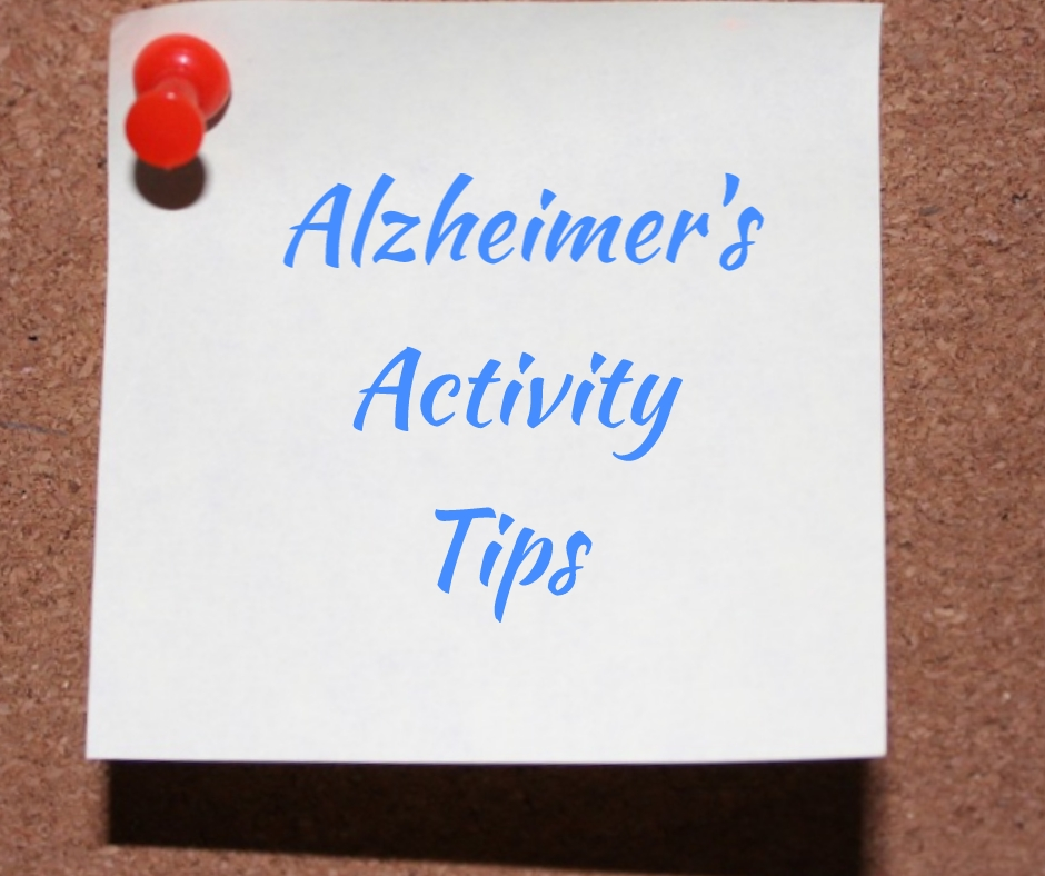 title image of Alzheimer's activity tips activity tips