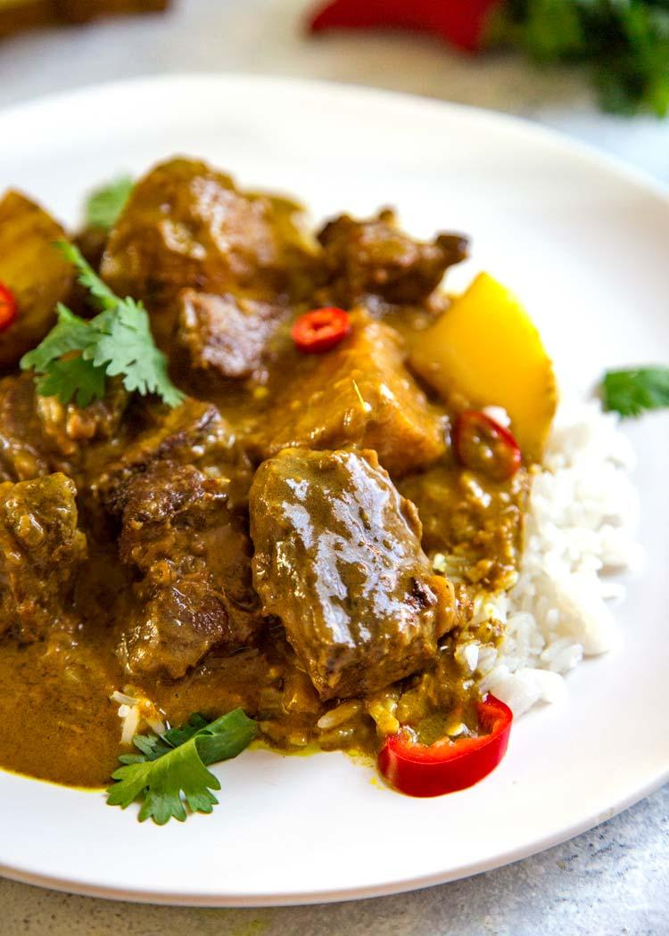 beef curry coconut milk