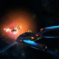 STAR TREK ONLINE | the new Fleet T6 Jupiter carrier class ... it's like the Battlestar Galatica...!!