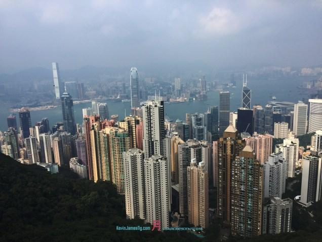 Looking back at gorgeous times views New Territories Hong Kong towards Tsim Sha Tsui Kowloon Photographer Kevin James Ng for KevinJamesNg.com月LunaCrescent.com