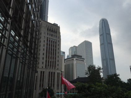 when you look at the Hong Kong Centrals landscape you can see the layers of history that's taken place with intensive construction as each level .....