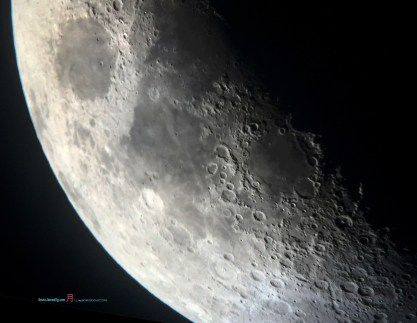 As Luna unveiling her terminator veil you can see the outline shadowy depths of the craters,