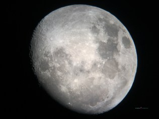 The moon Luna is like an A-line wedding dress she'll only show you the front part with the heavy cratered lacy bodice with the smooth texturing skirt with cratered lacy trims..