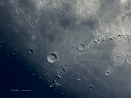 Copernicus Crater, it the impact resembles a Hexagon from view.. in which its only least three Kilometer Depth.. a long way to climb out from.. - Photographer @KevinJamesNg
