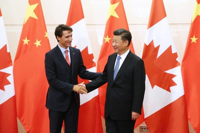 Justin Trudeau, Xi Jinping