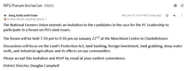NFU Invitation