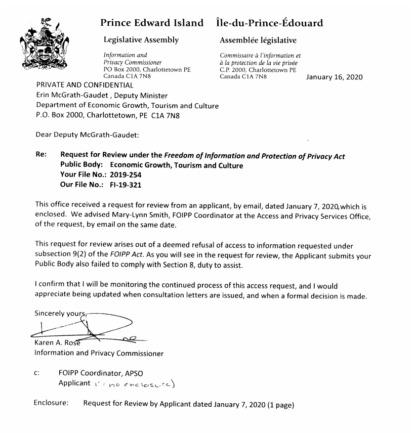 Letter from Karen Rose