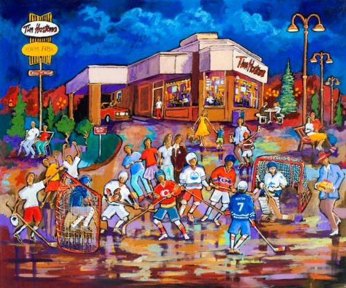 Tim Horton's painting by Kevin Jenne