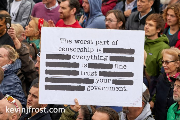 We Do Not Consent Rally. 26 September 2020.